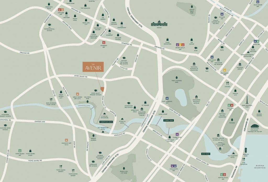 The-Avenir-location-singapore
